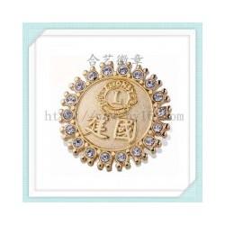 狮子会徽章,爱心徽章,电镀徽章,镶钻襟章