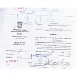 巴拿马馆公司章程加签