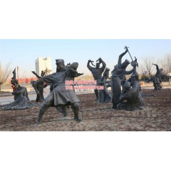 广场人物雕塑_人物雕塑_昌盛铜雕供应批发(