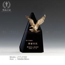 金鹰/精英奖杯 荣誉市民奖杯供应商 政府表彰大会奖杯定做厂家