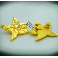 广东电镀金徽章、金属立体徽章、金属襟章公司定制