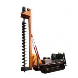 履带光伏打桩机小型光伏螺旋工程施工多功能履带式打桩