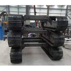 钢制履带底盘液压履带总成多功能拖拉机偏跨式履带底盘