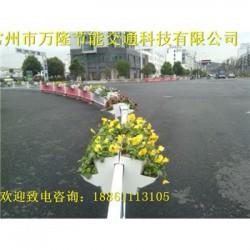 市政花箱护栏格式花箱制作道路护栏可放花箱