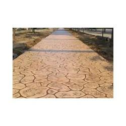山东彩色混凝土压花地坪-沥青路面彩色压花